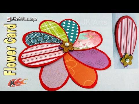 DIY Flower Card Tutorial | Card for scrapbook | JK Arts 1204