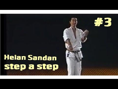 03  Heian Sandan karate-Do Shotokan step a step (aprender paso a paso)