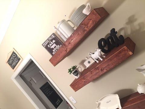 D.i.Y farm house floating shelves