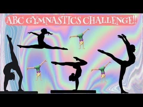 ABC GYMNASTICS CHALLENGE!!   Maya's Diy Channel