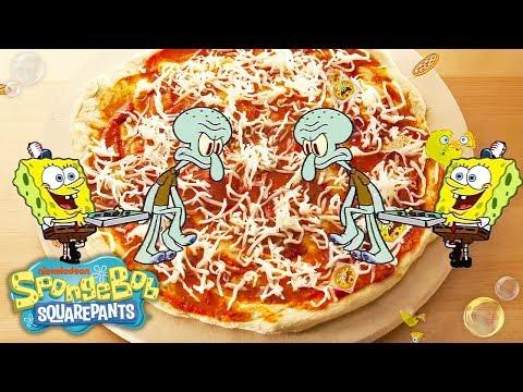 SpongeBob SquarePants | 'Krusty Krab Pizza' Official Remix Music Video | Nick