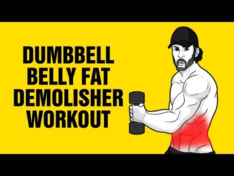 Extreme Dumbbell Belly Fat Demolisher Workout - Get 6 Pack Abs Fast