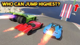 GTA 5 ONLINE : WHO CAN JUMP HIGHEST?