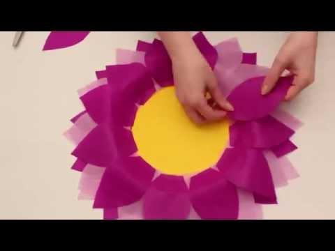 Kids, let's make paper flowers.  FUN & EASY FLOWER FUN.