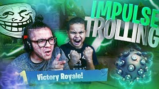 9 YEAR OLD KID GETS TROLLED WITH AN IMPULSE GRENADE OFF THE HILL! (HE RAGED) FORTNITE FUNNY MOMENTS!