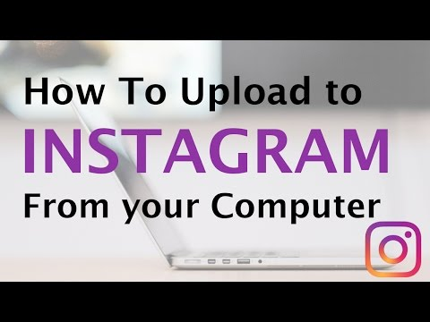 How To Upload Photos to Instagram from Computer 😀  Social Media - Instagram PC Tutorial