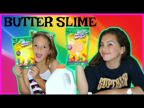 BUTTER SLIME WITH COLOR CLAY