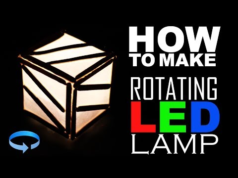 HOW To Make Rotating Led Lamp Easy Way - kasnox