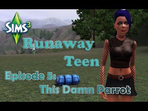Sims 3 Runaway Teen Episode 5: This damn Parrot!
