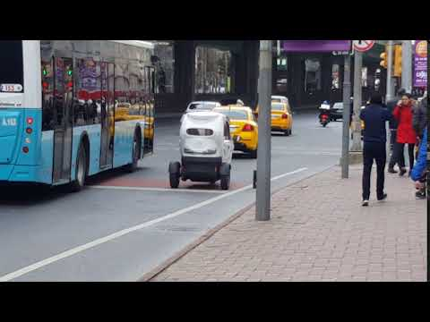 I want that tiny car in Istanbul's streets - reduce carbon footprint!