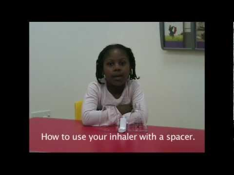 How to use your  inhaler with spacer.