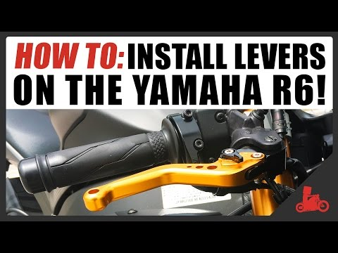 HOW TO: Install Levers on Yamaha R6 - Shorty Adjustable Clutch & Brake Levers