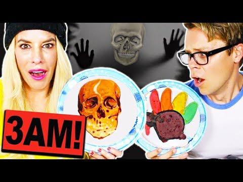 Do Not Make Pancake Art Challenge At 3am!  *Thanksgiving Edition*