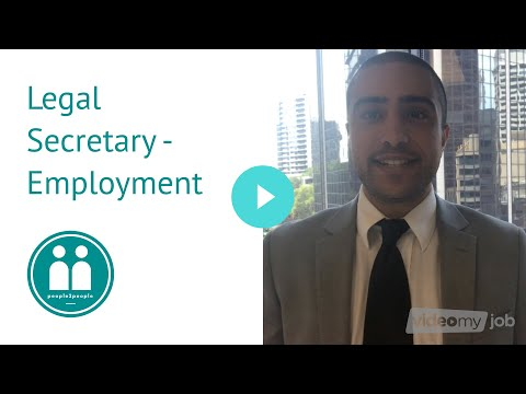 Legal Secretary Jobs - Employment - Sydney