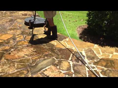 how to clean a natural stone patio and bricks