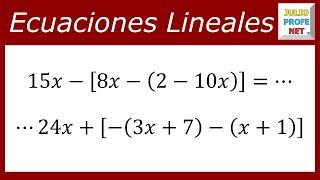Ecuaciones Lineales - Ejercicio 8