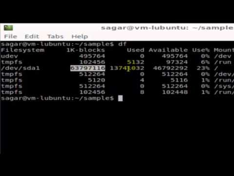 How to check disk space in Linux Shell terminal