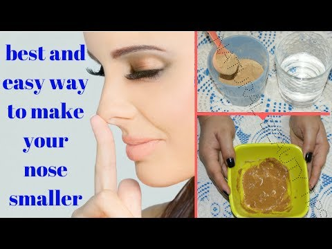 HOW TO MAKE YOUR NOSE SMALLER AT HOME without surgery or makeup