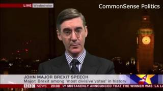 Jacob Rees-Mogg throws John Major in the garbage