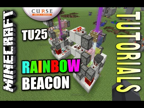 Minecraft PS4 - RAINBOW BEACON - How To - Tutorial ( PS3 / XBOX ) WII