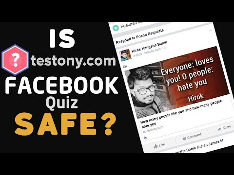Is TESTONY Facebook Quiz SAFE? - id testony.com - How to remove? 🔥