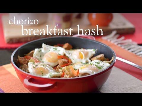 Slimming World Syn Free chorizo breakfast hash