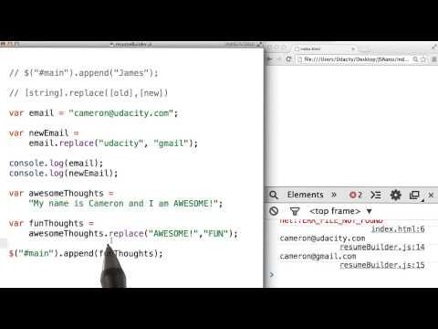 string.replace() Solution - JavaScript Basics