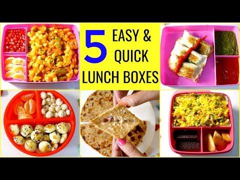 5 बच्चों की पसंदीदा LUNCH BOX रेसिपीज | 5 Quick & Easy Lunch Box Recipes | CookWithNisha