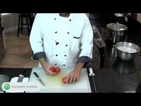Blanching Tomatoes | Chef Dennis Berry | Culinary Fitness | Healthy Cooking Videos