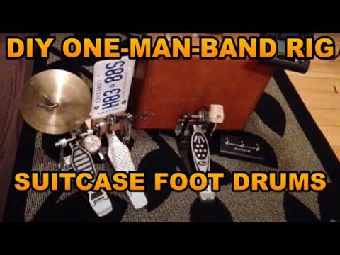 DIY Suitcase Rhythm Section - One-Man-Band