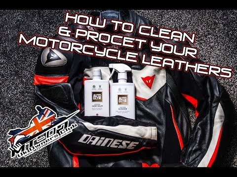 How to clean and protect your motorcycle leathers