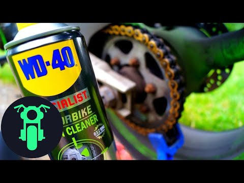 How to Clean, Adjust and Maintain a Motorcycle chain
