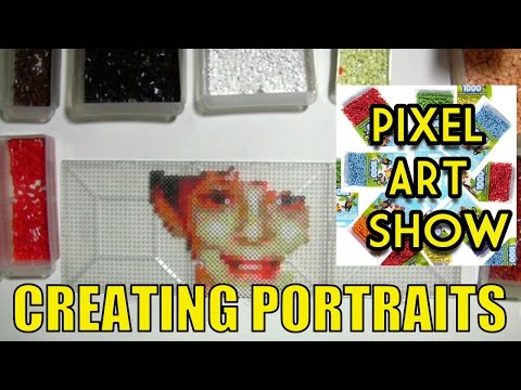Perler Bead Portraits Using Pointillism - Pixel Art Show