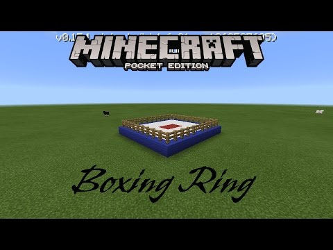 Minecraft PE | How to make a Boxing Ring / PVP Ring