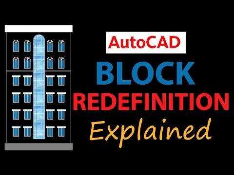 AUTOCAD BLOCK REDEFINITION | AUTOCAD BLOCK REFERENCE EDIT | AUTOCAD BLOCK EDITOR