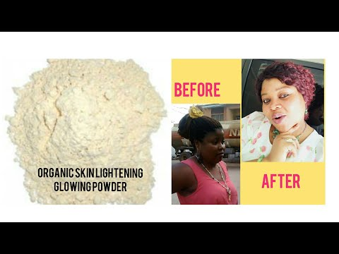 HOW TO MIX ORGANIC SKIN WHITENING GLOWING POWDERS FOR A FLAWLESS BRIGHTER COMPLEXION