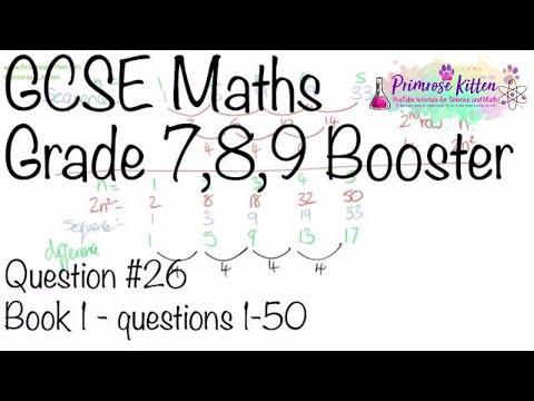 Quadratic nth term - GCSE 9-1 Maths Grade 7, 8, 9 Booster Revision #26