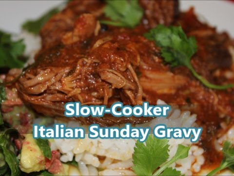 How to Make a Slow Cooker Italian Sunday Gravy Recipe [Episode 198]