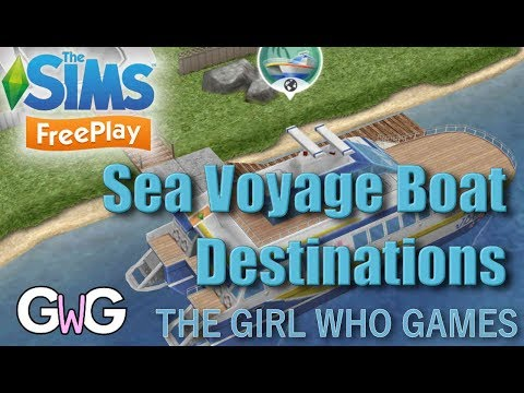 The Sims Freeplay- Sea Voyage Boat Destinations