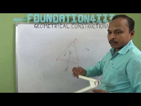 How to construct Circumcircle of a Triangle