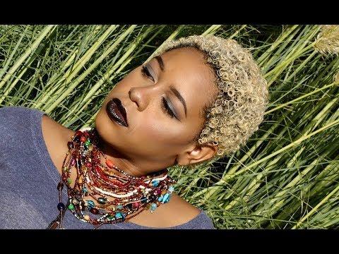 Natural Hair Big Chop Transformation | Mixed Blonde + Safe Hair Bleaching Color Tutorial