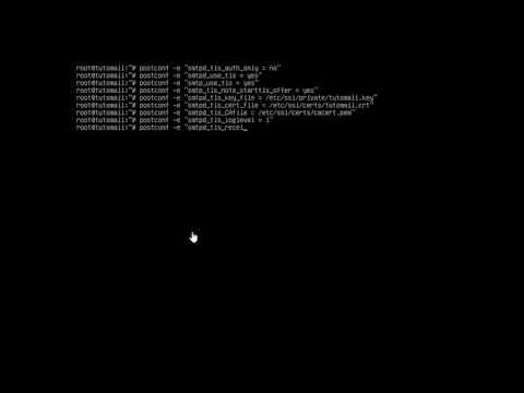 Debian mailserver with Postfix & Dovecot + Thunderbird demo