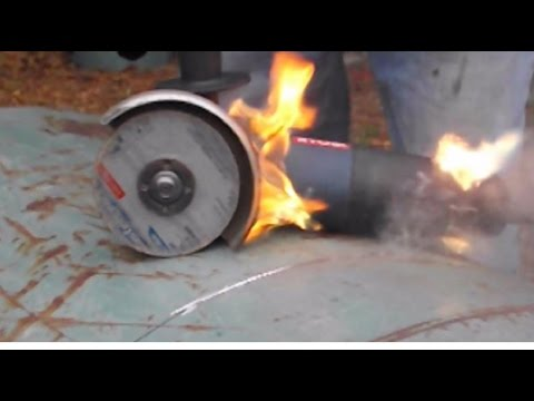 How I Cut Up a Propane Tank