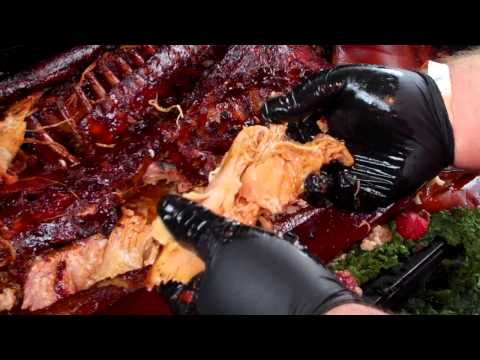 Break Down a Whole Hog and feed people smoked bbq pig meat