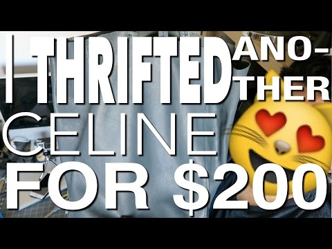 I THRIFTED ANOTHER CELINE BAG FOR $200!!!! UNBOXING AND FIRST IMPRESSIONS