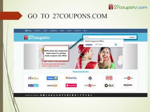 HDFC Bank Exclusive Coupons by 27coupons.com
