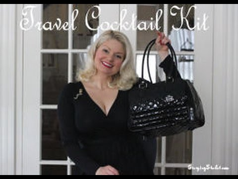 Travel Cocktail Kit inspired by Cointreau and Dita Von Teese