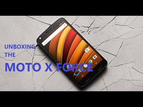 Unboxing the Moto X Force