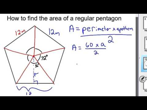 How to find the Area of a pentagon
