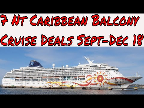 Best 7 Night Balcony Caribbean Cruise Deals From Sept to Dec 2018 Let's Check Them Out!